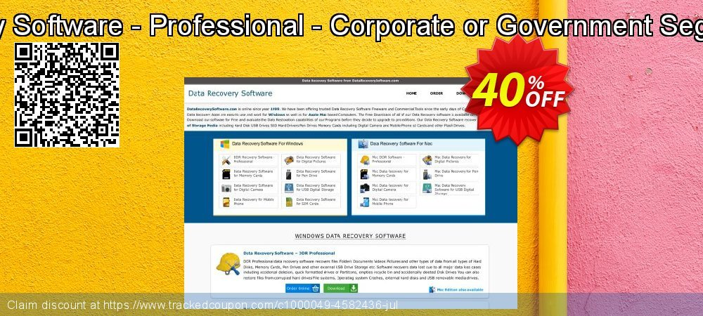 Mac DDR Recovery Software - Professional - Corporate or Government Segment User License coupon on April Fool's Day discount