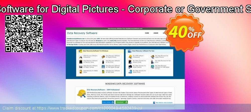 Mac Data Recovery Software for Digital Pictures - Corporate or Government Segment User License coupon on Spring super sale