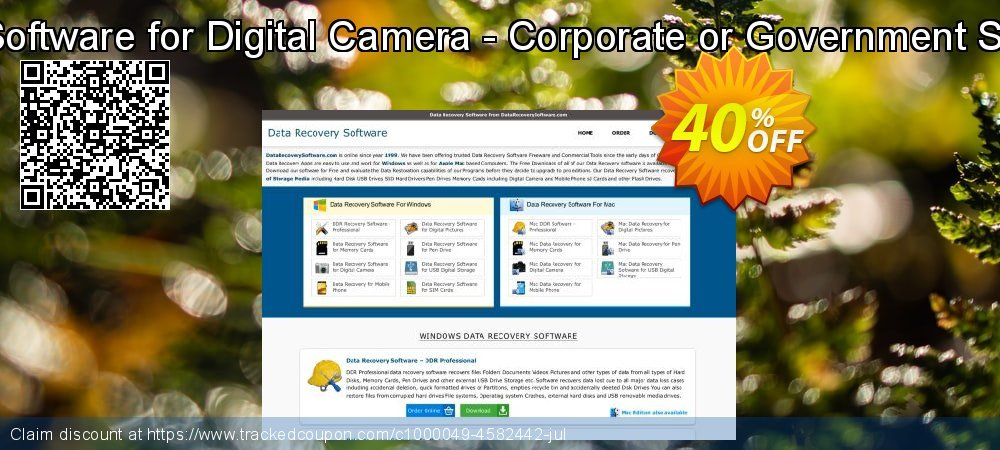 Mac Data Recovery Software for Digital Camera - Corporate or Government Segment User License coupon on Easter sales