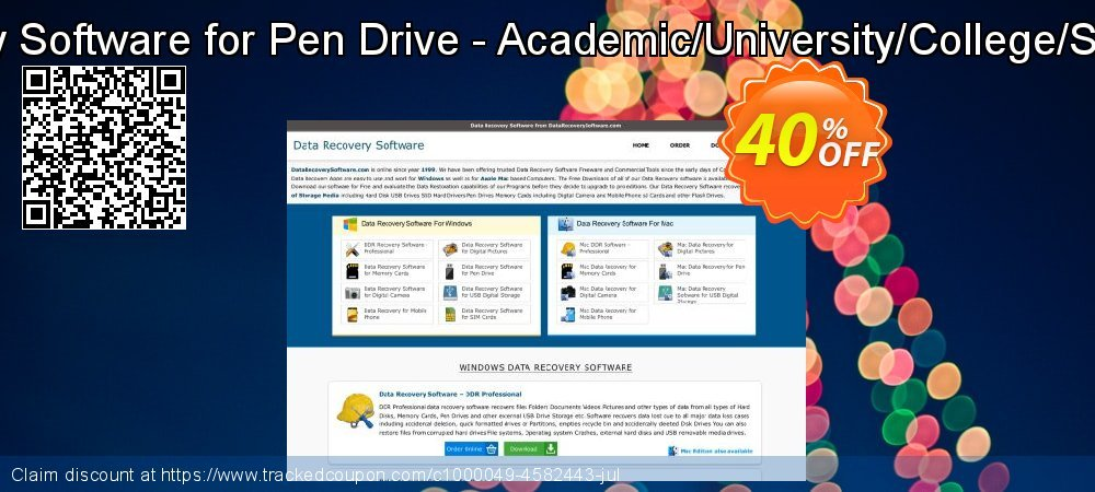 Mac Data Recovery Software for Pen Drive - Academic/University/College/School User License coupon on Spring deals
