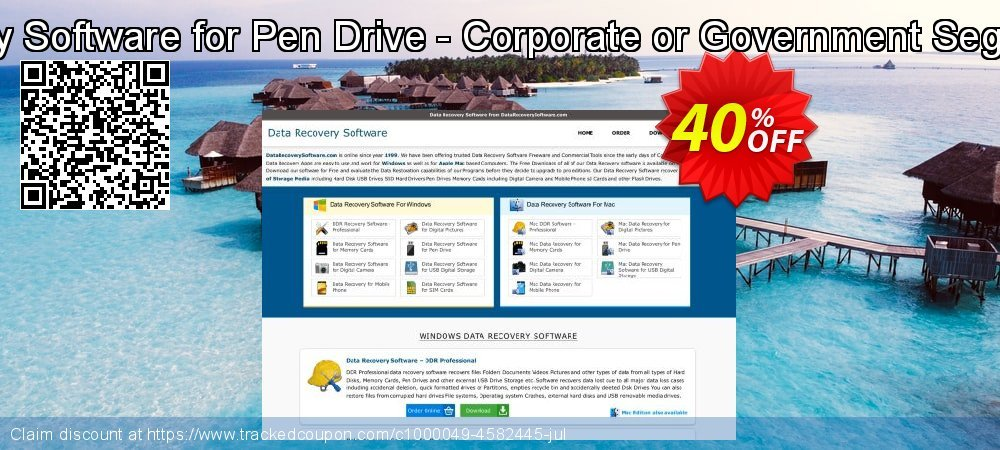 Mac Data Recovery Software for Pen Drive - Corporate or Government Segment User License coupon on Easter Sunday discount