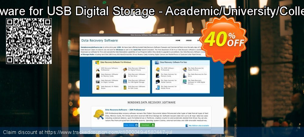 Mac Data Recovery Software for USB Digital Storage - Academic/University/College/School User License coupon on Spring offering sales