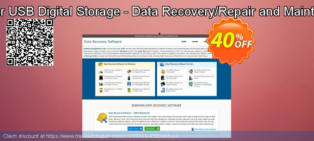 Get 30% OFF Mac Data Recovery Software for USB Digital Storage - Data Recovery/Repair and Maintenance Company User License offer