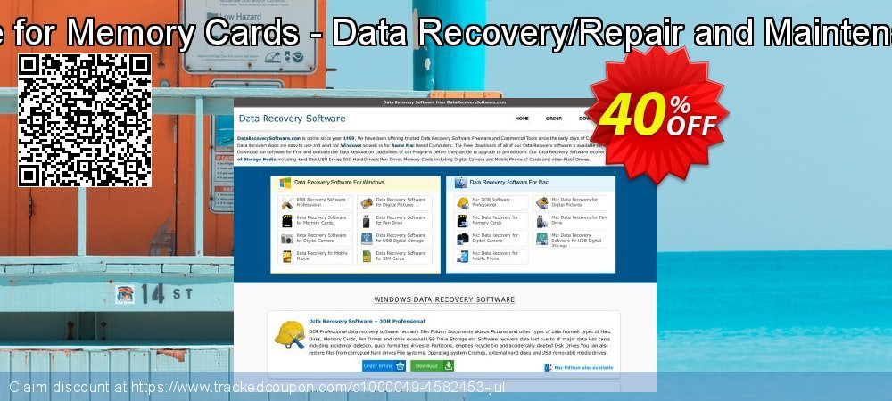 Mac Data Recovery Software for Memory Cards - Data Recovery/Repair and Maintenance Company User License coupon on Easter Sunday offer