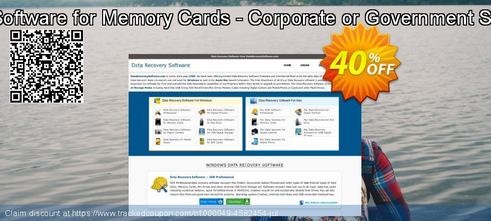 Mac Data Recovery Software for Memory Cards - Corporate or Government Segment User License coupon on Easter discount