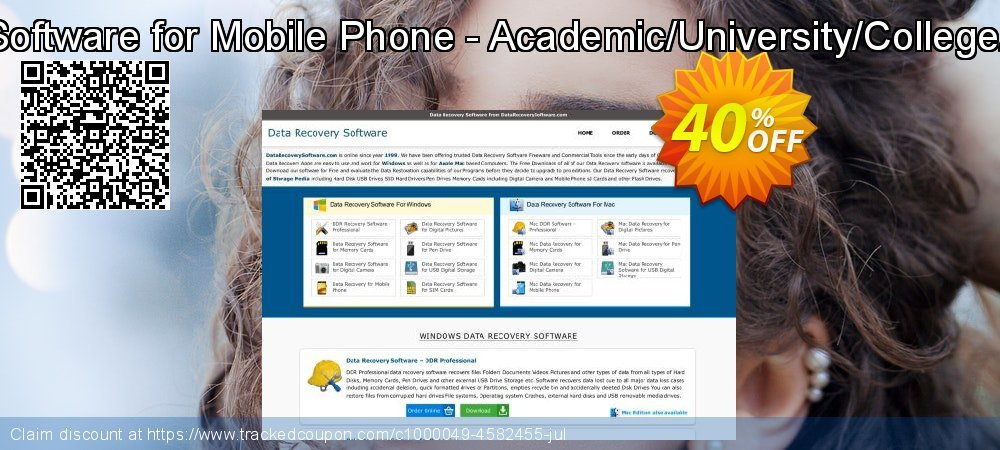 Mac Data Recovery Software for Mobile Phone - Academic/University/College/School User License coupon on Spring offering discount