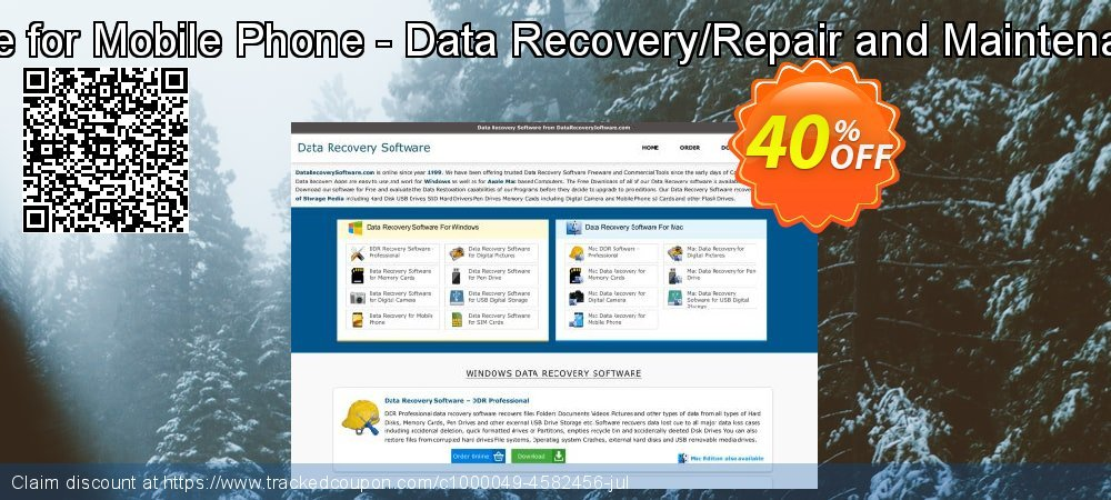 Mac Data Recovery Software for Mobile Phone - Data Recovery/Repair and Maintenance Company User License coupon on April Fool's Day offering sales