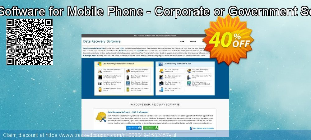 Get 40% OFF Mac Data Recovery Software for Mobile Phone - Corporate or Government Segment User License offering sales
