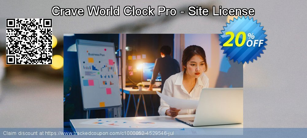 Get 20% OFF Crave World Clock Pro - Site License offering discount