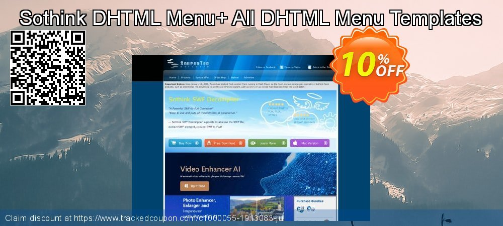 Sothink DHTML Menu+ All DHTML Menu Templates coupon on Exclusive Student discount discounts