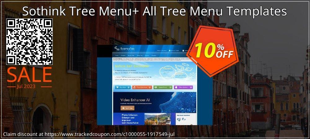 Get 10% OFF Sothink Tree Menu+ All Tree Menu Templates offering discount