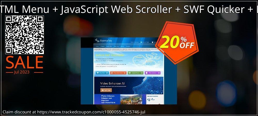 Sothink DHTML Menu + JavaScript Web Scroller + SWF Quicker + Logo Maker coupon on Exclusive Teacher discount super sale
