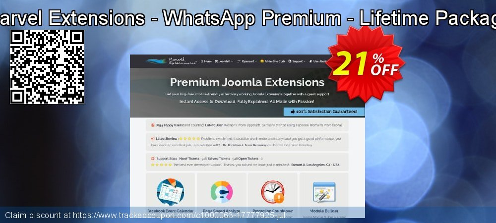 Marvel Extensions - WhatsApp Premium - Lifetime Package coupon on New Year's Day sales