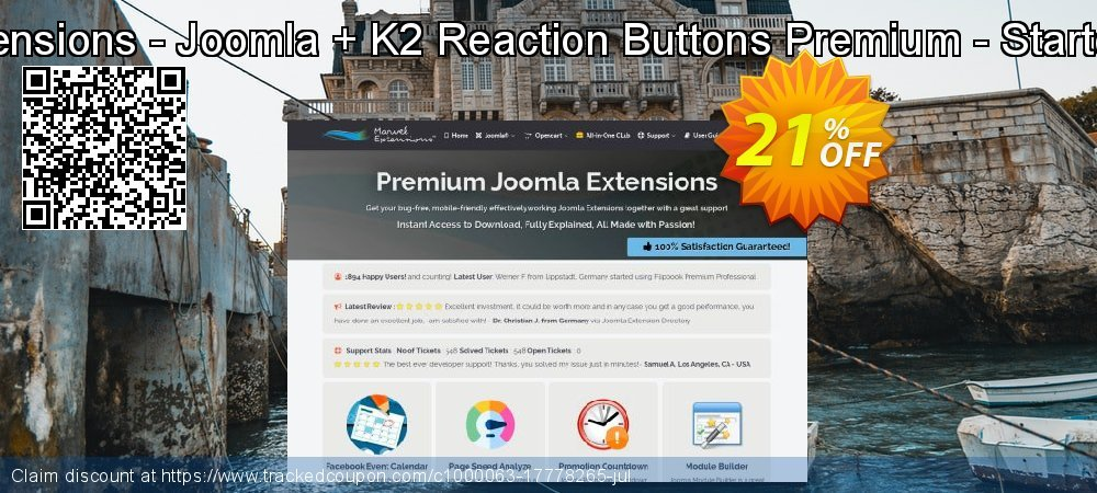 Marvel Extensions - Joomla + K2 Reaction Buttons Premium - Starter Package coupon on Student deals super sale