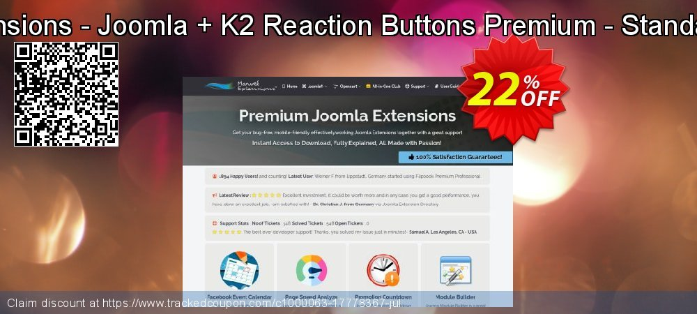 Marvel Extensions - Joomla + K2 Reaction Buttons Premium - Standard Package coupon on Student deals sales