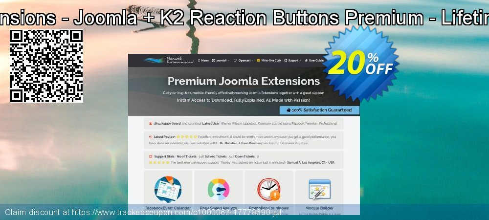 Marvel Extensions - Joomla + K2 Reaction Buttons Premium - Lifetime Package coupon on Easter discount