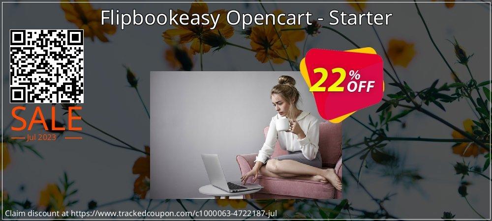 Flipbookeasy Opencart - Starter coupon on Spring discounts