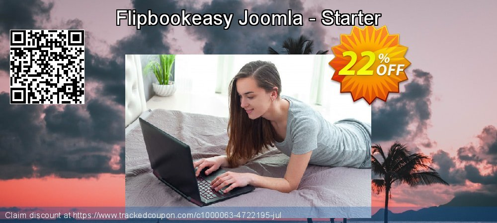 Get 10% OFF Flipbookeasy Joomla - Starter promo
