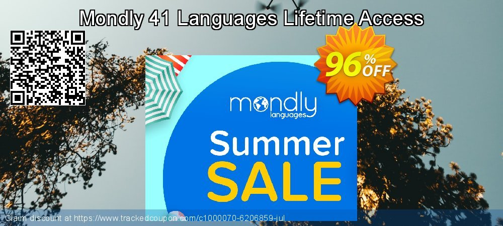 Get 20% OFF Mondly Lifetime Membership - Learn 33 Languages sales