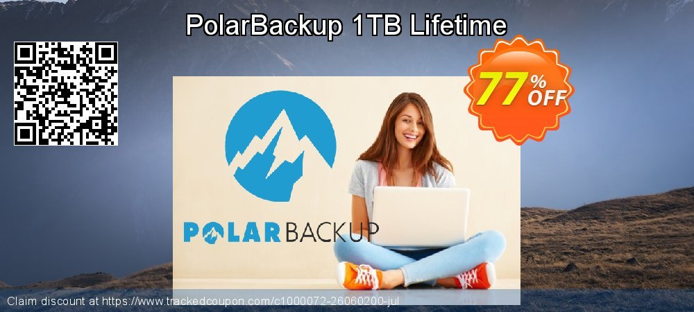 PolarBackup 1 TB - Lifetime  coupon on Christmas sales