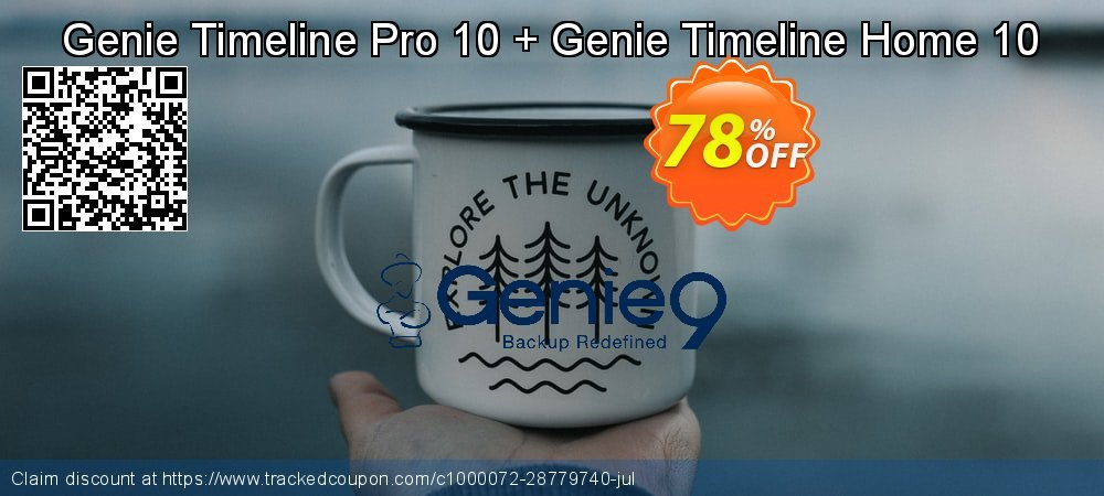 Genie Timeline Pro 10 + GTL Home 10 Free coupon on Exclusive Student discount discounts