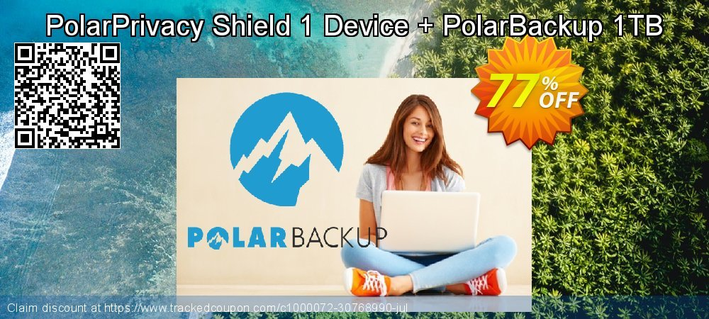 PolarPrivacy Shield 1 Device + PolarBackup 1TB coupon on Chinese National Day super sale
