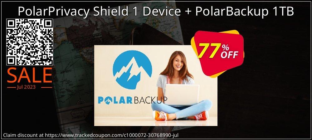 PolarPrivacy Shield 1 Device + PolarBackup 1TB coupon on Valentine Week discounts