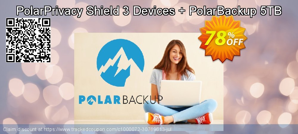 PolarPrivacy Shield 3 Devices + PolarBackup 5TB coupon on Valentines Day sales