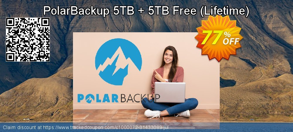 PolarBackup 5TB + 5TB Free coupon on Natl. Doctors' Day super sale