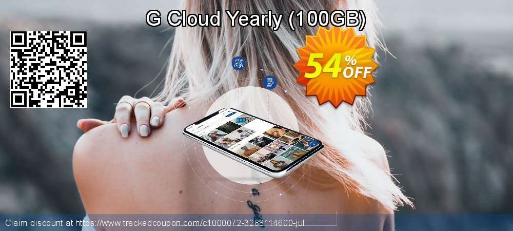G Cloud Yearly - 100GB  coupon on National Savings Day super sale