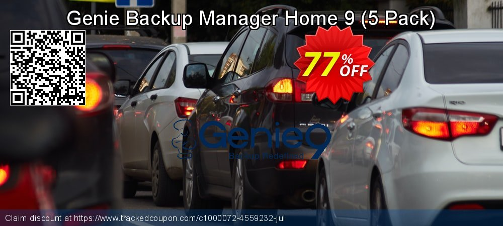 Genie Backup Manager Home 9 - 5 Pack coupon on Summer promotions