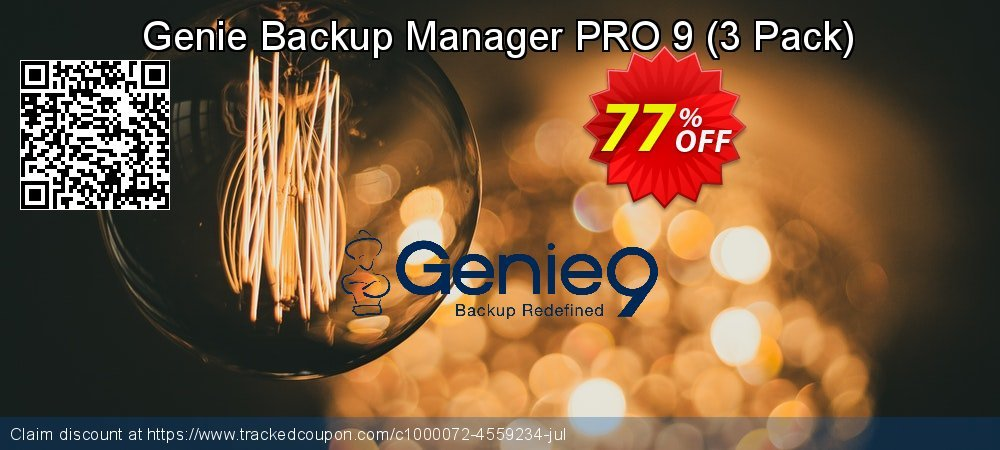 Genie Backup Manager Professional 9 - 3 Pack coupon on Mid-year deals