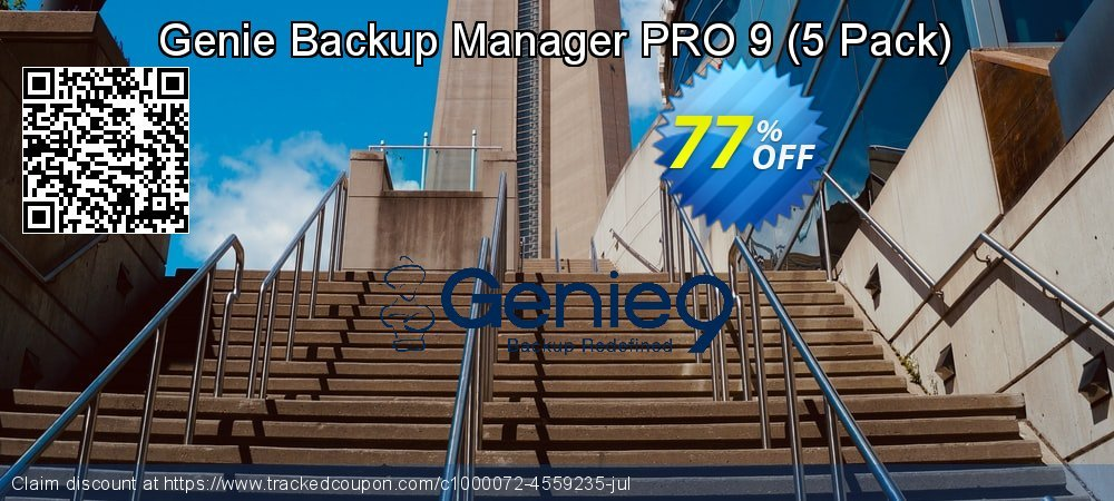 Genie Backup Manager Professional 9 - 5 Pack coupon on Summer offer