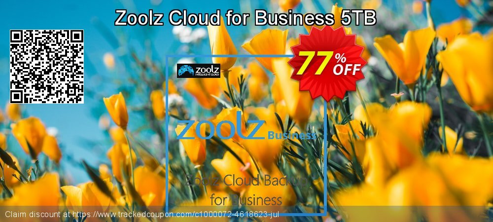 Zoolz Business Terabyte Cloud Storage (5 TB) - Unlimited Users/Servers coupon on Back to School promotion deals