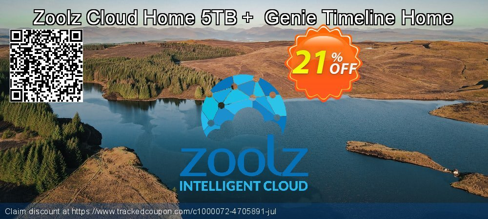Zoolz Cloud Home 5TB +  Genie Timeline Home coupon on Spring deals