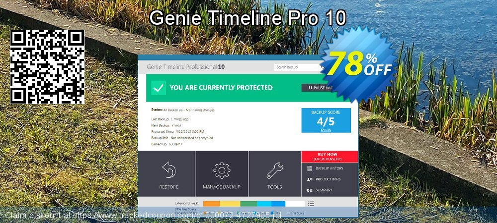 Genie Timeline Pro 10 coupon on Summer offering discount