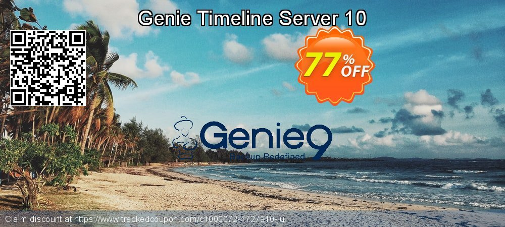 Genie Timeline Server 10 coupon on July 4th sales