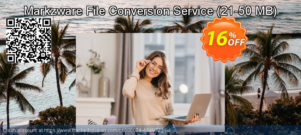 Markzware File Conversion Service - 21-50 MB  coupon on College Student deals discounts