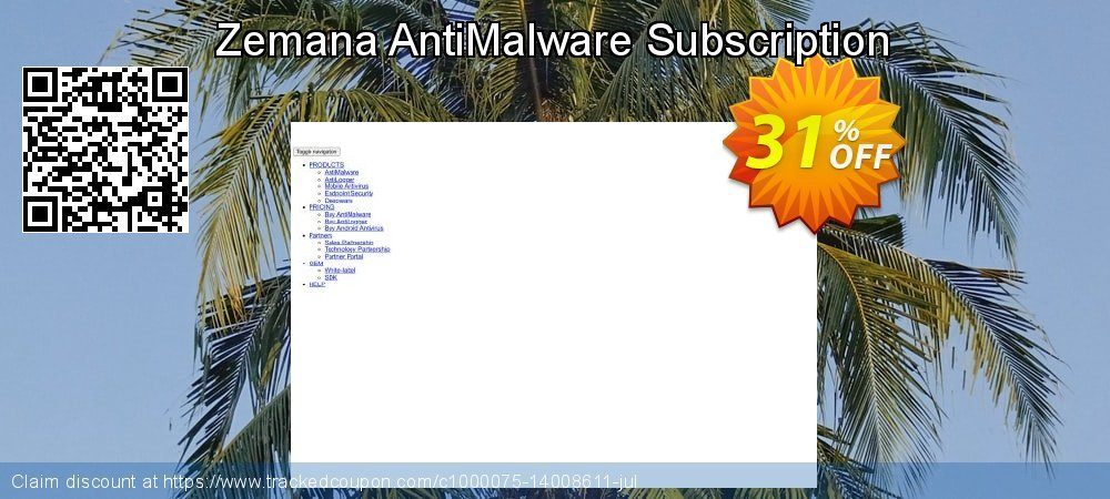 Get 31% OFF Zemana AntiMalware Subscription offering sales