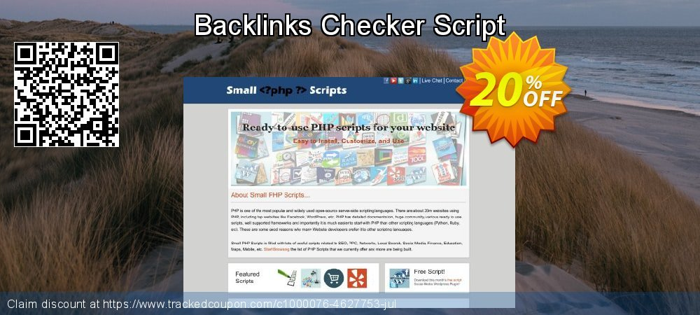 Backlinks Checker Script coupon on Mothers Day super sale