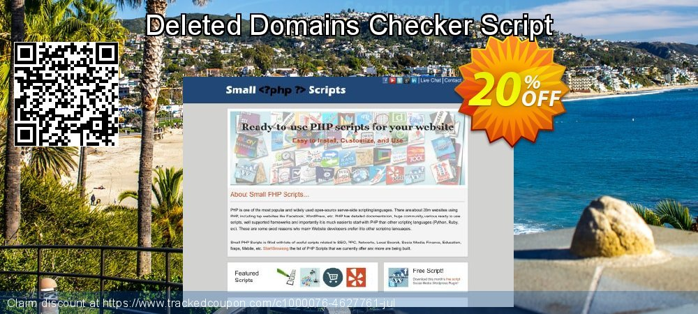 Get 10% OFF Deleted Domains Checker Script offering sales