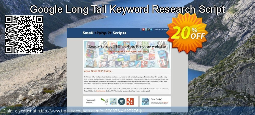 Get 20% OFF Google Long Tail Keyword Research Script offering sales