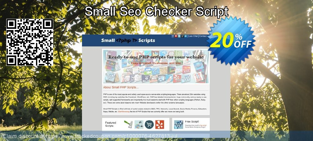 Small Seo Checker Script coupon on Mid-year offering discount