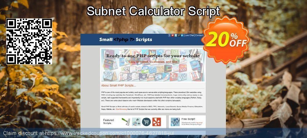 Get 10% OFF Subnet Calculator Script promo sales