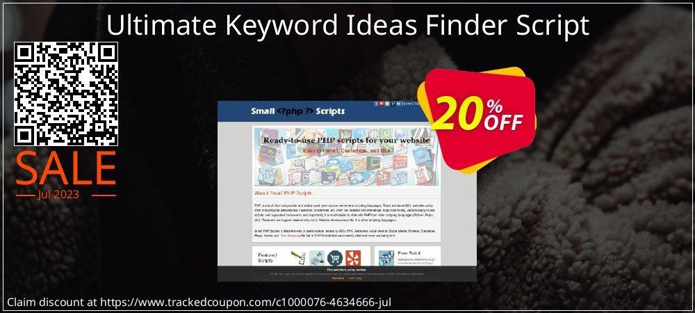 Get 10% OFF Ultimate Keyword Ideas Finder Script offering sales