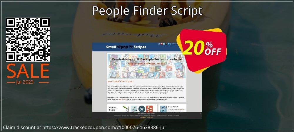 Get 10% OFF People Finder Script offering sales