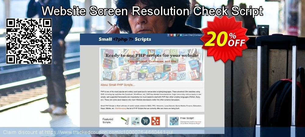 Get 20% OFF Website Screen Resolution Check Script offering discount