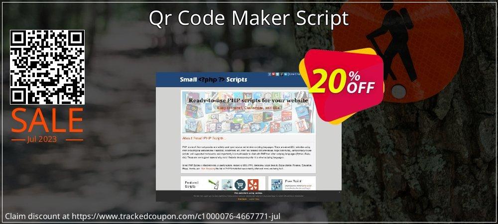 Get 10% OFF Qr Code Maker Script offer