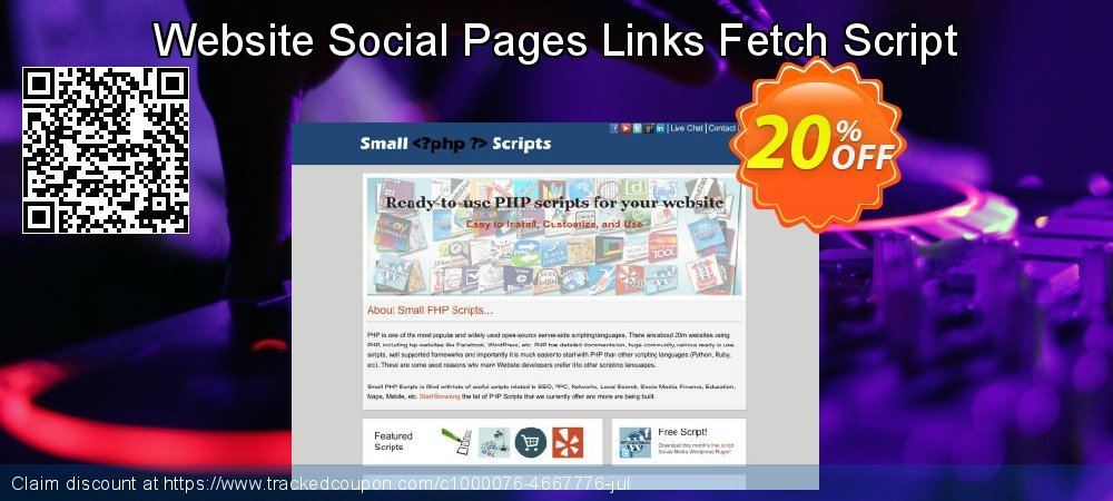 Website Social Pages Links Fetch Script coupon on April Fool's Day offering sales