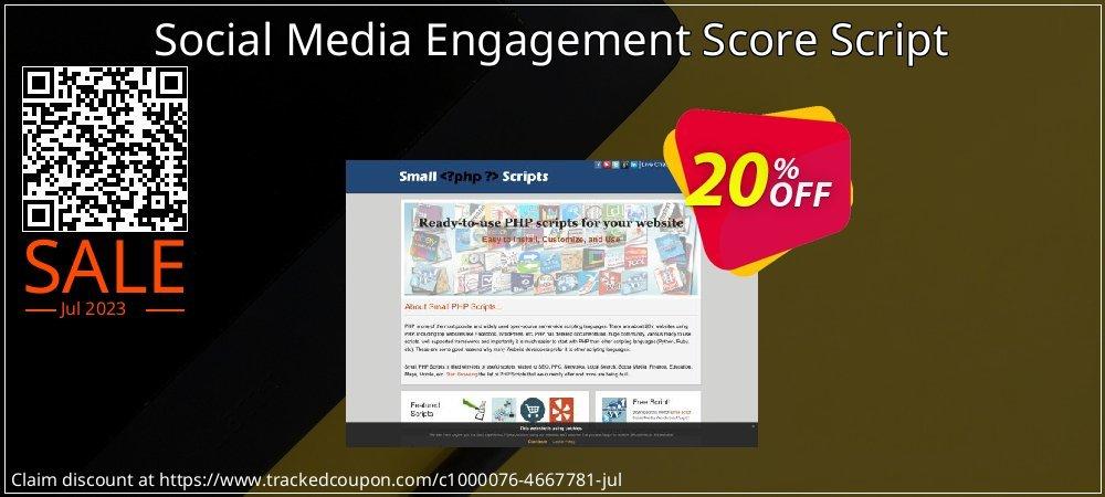 Social Media Engagement Score Script coupon on Easter Sunday deals